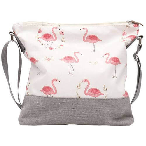 Umhängetasche 009 (Nature Flamingos)