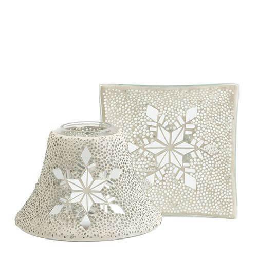 Yankee Candle - Twinkling Snowflake Lampenschirm & Tellerset groß
