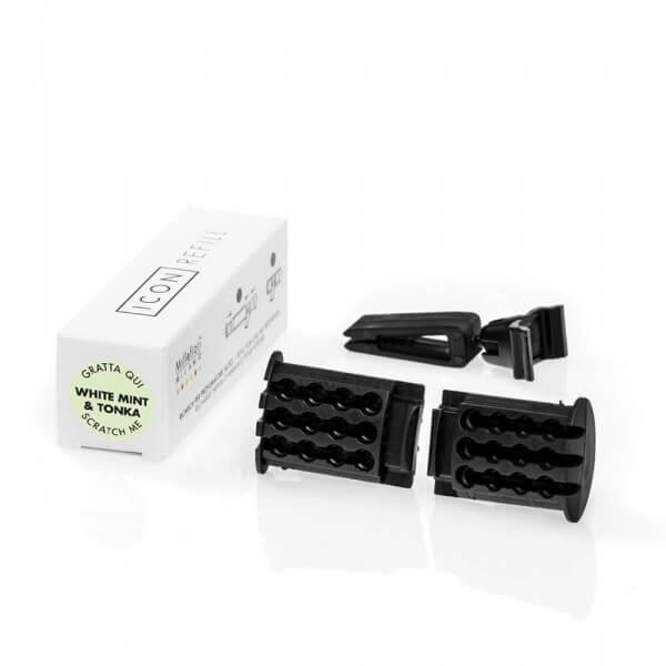 "Refill For Car Air Freshener ""Icon"" White Mint & Tonka - Millefiori"