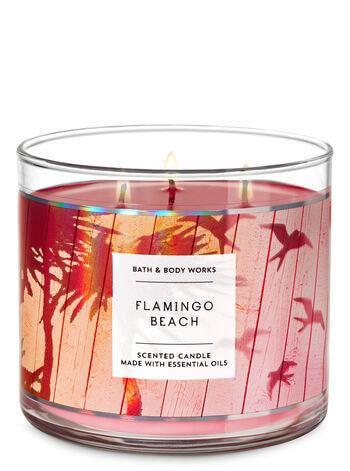 3-Docht Kerze - Flamingo Beach - 411g