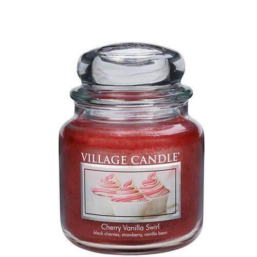 Village Candle Cherry Vanilla Swirl 453g