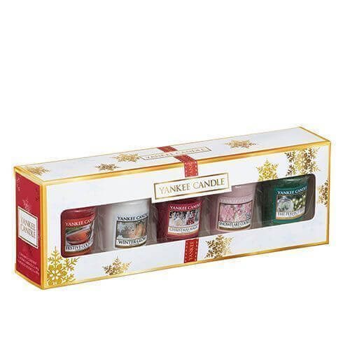 Yankee Candle The Perfect Christmas 5 Votive Gift Set Festive