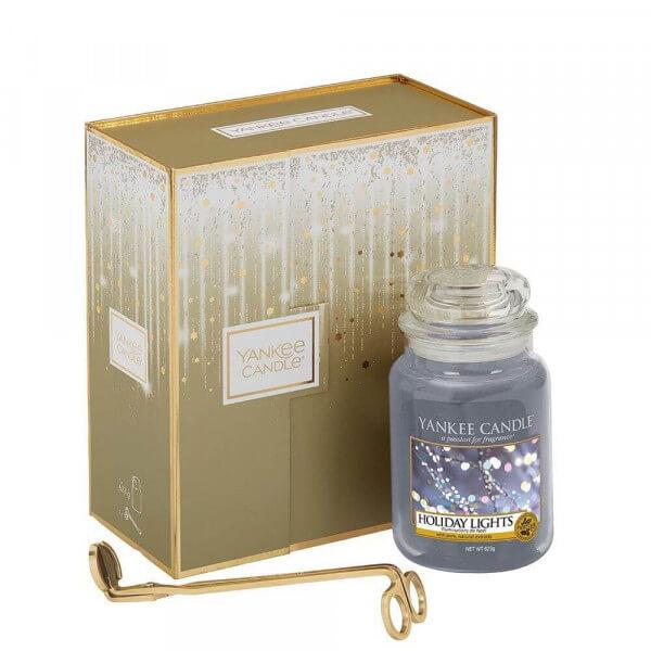 Geschenkset Großes Jar & Dochtschere (US Exclusive Holiday Lights)