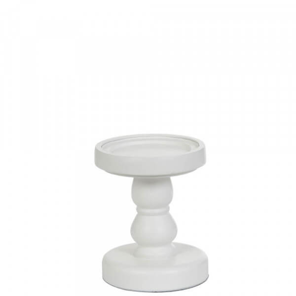 Yankee Candle White Wood Candle Stands klein