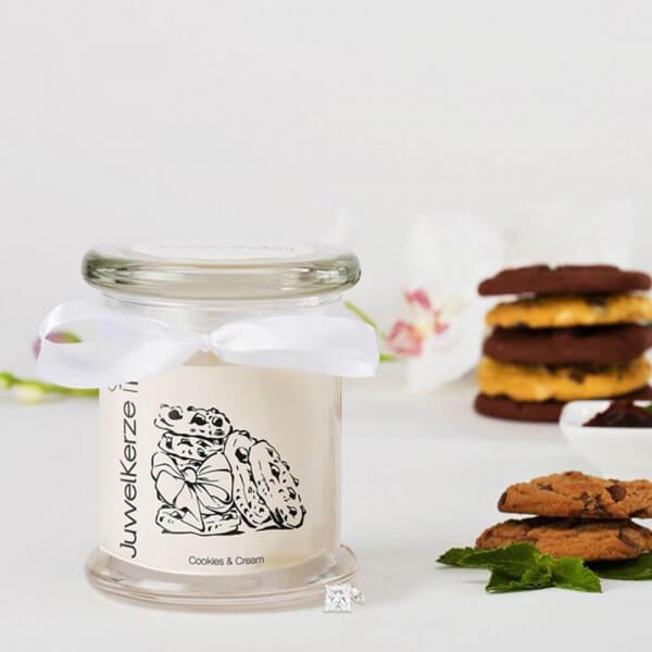 JuwelKerze Cookies & Cream (Charm Anhänger) 230g