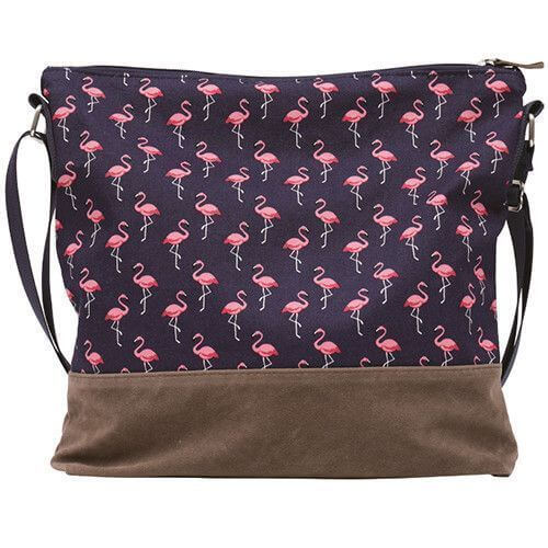 Umhängetasche 012 (Navy Flamingo)