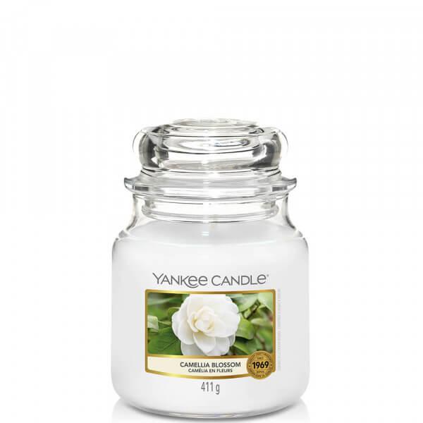 Camellia Blossom 411g mitlleres Glas von Yankee Candle