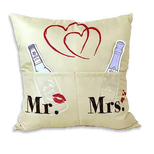 Mr. & Mrs. Kissen mit 3 Einstecktaschen