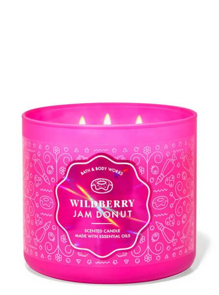 3-Docht Kerze - Wildberry Jam Donut - 411g