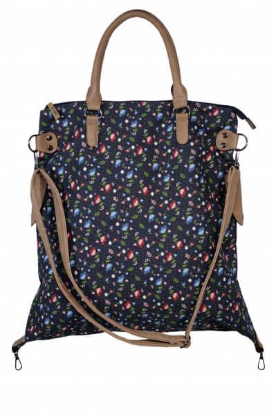 Shopping Bag Floral blau 201