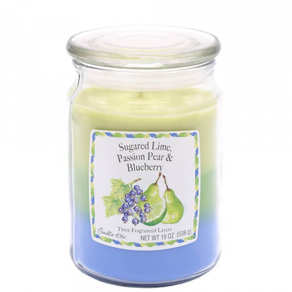 Sugared Lime, Passion Pear, Blueberry 583g von Candle Lite