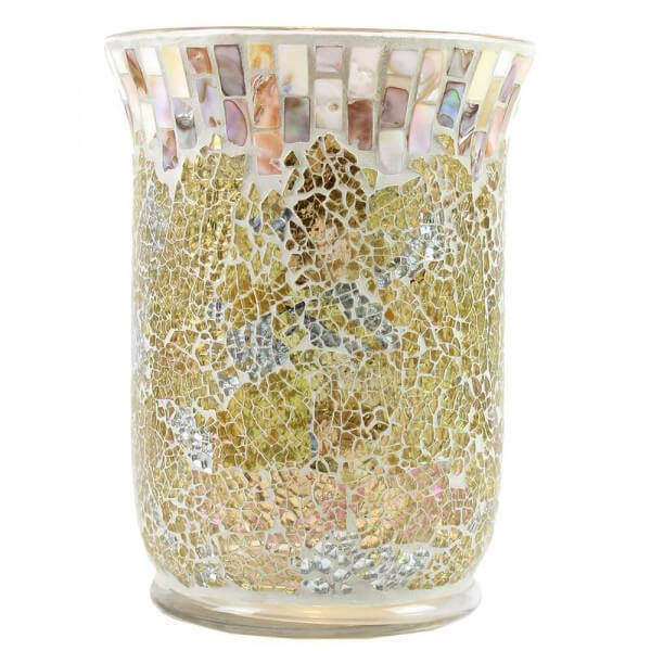 Gold And Pearl Crackle Jar Holder 411g & 623g