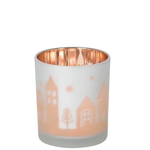 Yankee Candle Winter Village Votivkerzenhalter - Flicker Glass
