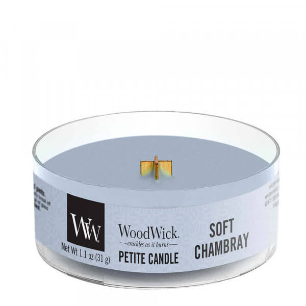 Soft Chambray Petite Candle 31g von Woodwick