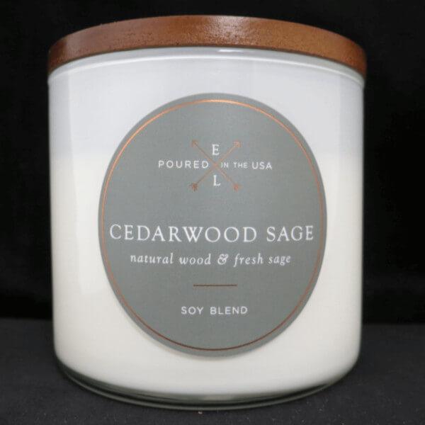 Duftkerze Holzdocht Cedarwood Sage - 368g