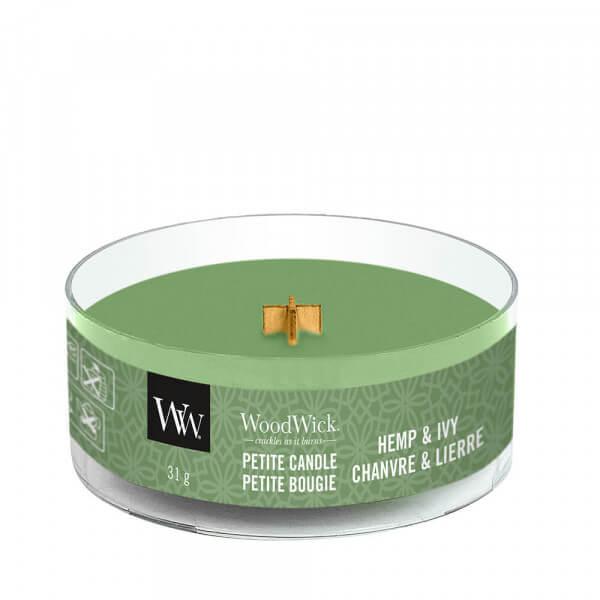 Hemp And Ivy Petite Candle 31g von Woodwick
