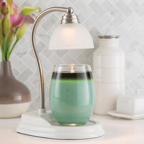 Candle Warmers Aurora Lampe Kerzenwärmer weiß silber