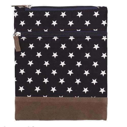 Canvas Crossbag 033 (Navy Stars)