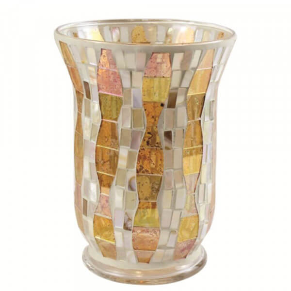 Gold Wave Mosaic Jar Holder von Yankee Candle