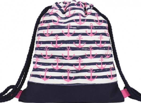 Kinder Turnbeutel 225-004 (Navy Pink)