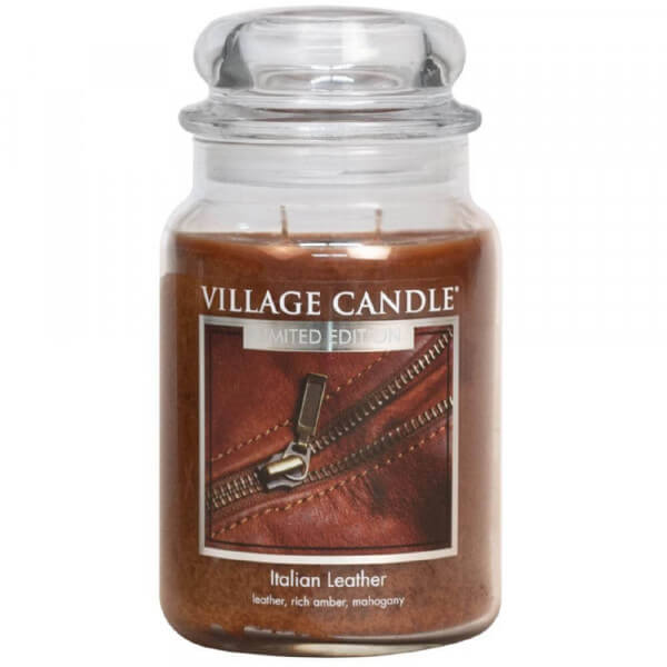 Italian Leather 626g Village Candle
