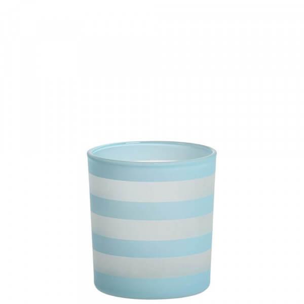 Yankee Candle - Coastal Stripe Teelichthalter hellblau