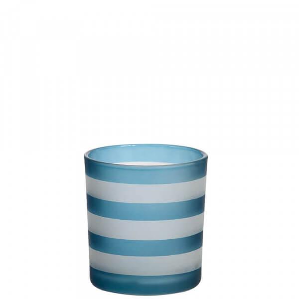 Yankee Candle - Coastal Stripe Teelichthalter dunkelblau