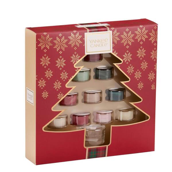Geschenkset mit 10 Teelichter & einem Halter von Yankee Candle